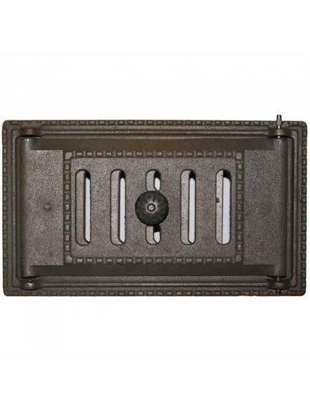 ДПК Дверка поддувала каминная чугунная с шибером 140х250мм 4,5кг