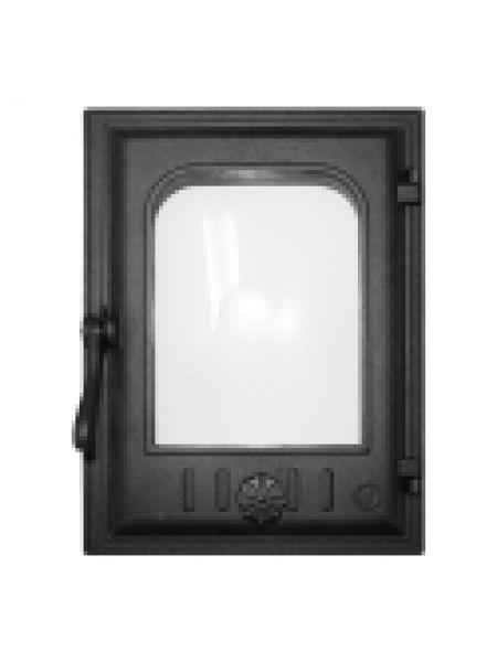 K403 Дверца топочная стекло 250х350мм 10кг