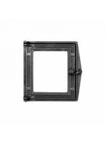 ДТс Дверь топочная чугунная со стеклом 270х295мм 6кг (стекло выдается комплектом с дверью)
