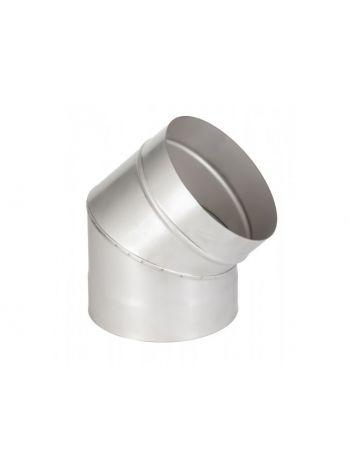 Отвод нержавейка 1мм диаметр  150 угол 135