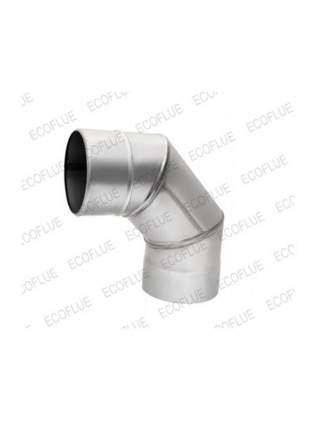 Отвод нержавейка 1мм  диаметр 115 угол 90