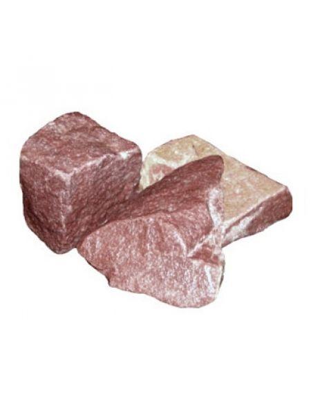 Малиновый кварцит камень колотый коробка 20кг