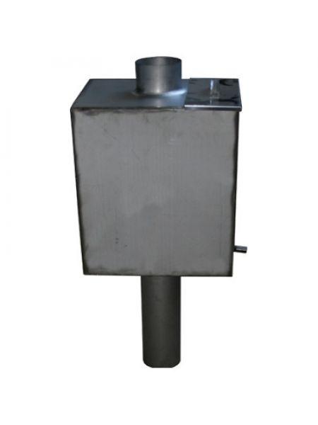Бак на трубе для бани 55 литров 115 мм диаметр