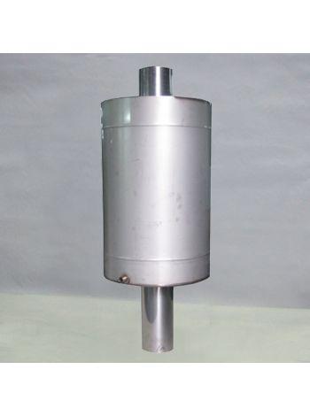 Бак на трубе для бани круглый  80 литров 115 мм диаметр