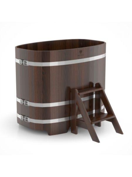Купель для бани Bentwood дуб морёный 0,76х1,16х1,0