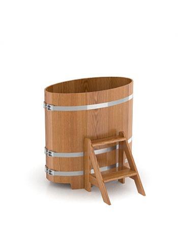 Купель для бани дуб натуральный 0,59х1,06х1,0