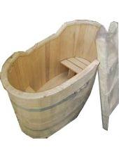 Купель для бани осина двухместная