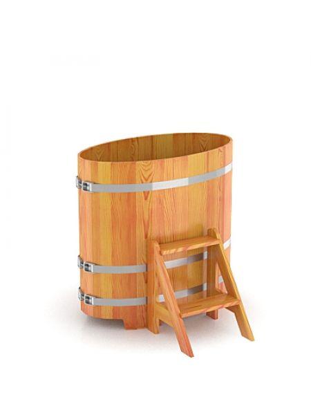 Купель для бани лиственница натуральная 0,59х1,06х1,0