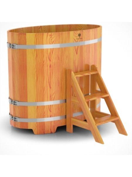 Купель для бани лиственница натуральная 0,80х1,42х1,2