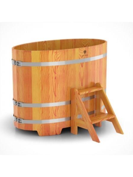 Купель для бани лиственница натуральная 0,80х1,42х1,0