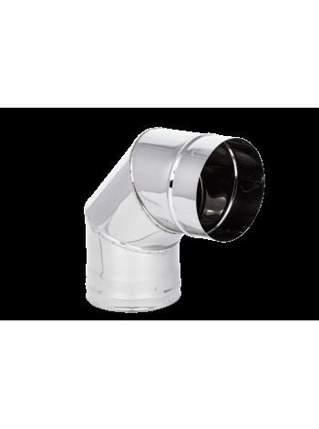 Колено 200 Нерж  (304) 0.8 мм L90