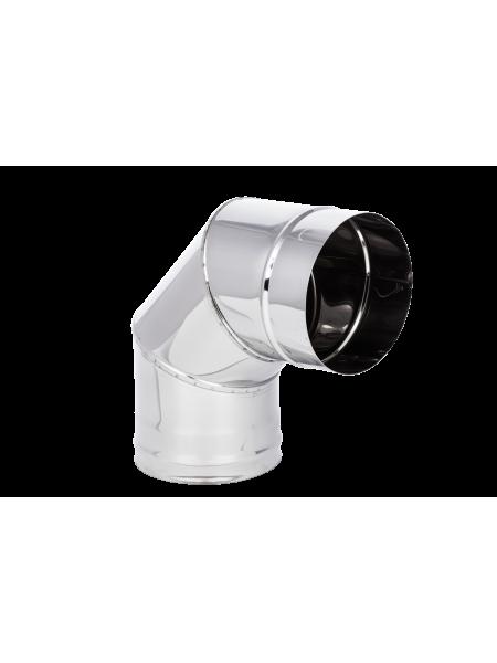 Колено 115 Нерж  (304) 0.8 мм L90