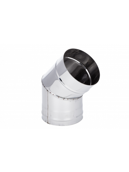 Колено 115 Нерж  (304) 0.8 мм L45