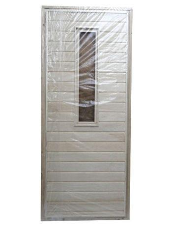 Дверь для бани ДСН липа со стеклом с петлями 70х190см