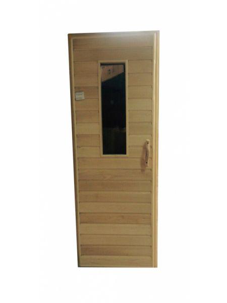 Дверь для бани осина малая со стеклом без петель (1750х720мм, 1800х700мм)