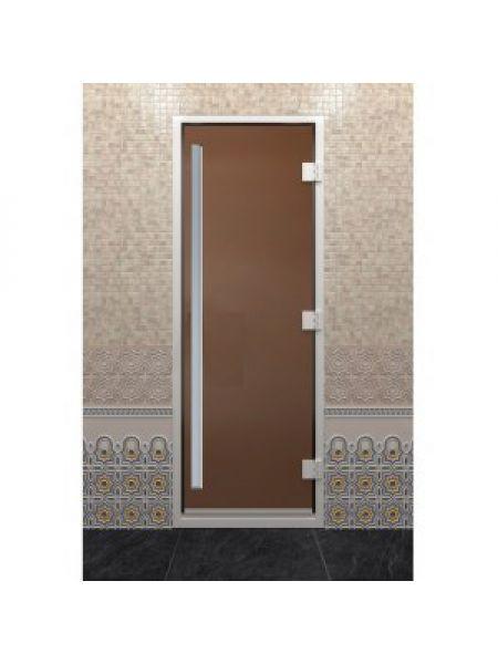 Дверь для хамама Alum Престиж бронза 70х190 см