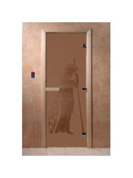 """Дверь для бани """"Pим"""" стекло бронза матовая коробка ольха 70х190см"""