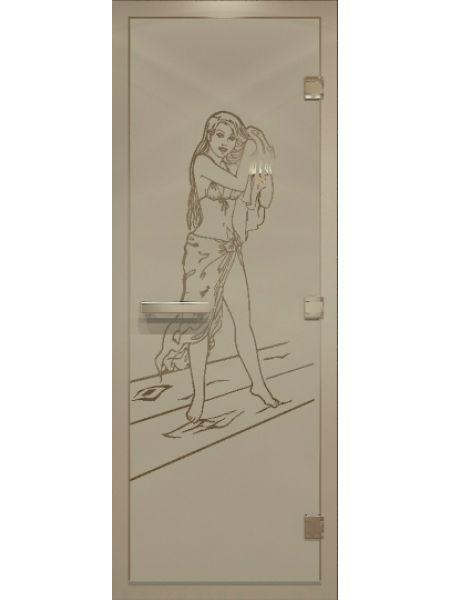 """Дверь для бани """"Дженифер Alum"""" для хамама 80х200см"""