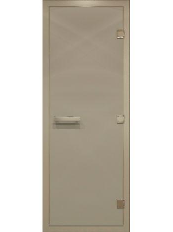 """Дверь для бани """"Сатин Alum"""" для хамама стекло сатин 80х200см"""
