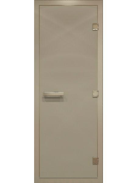 """Дверь для бани """"Сатин Alum"""" для хамама стекло сатин 70х190см"""