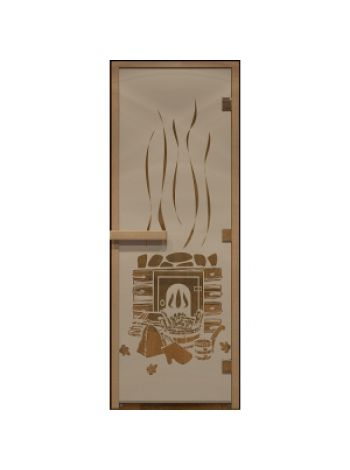 """Дверь для бани """"Банька"""" бронза матовая 70х190см"""