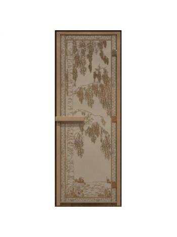"""Дверь для бани """"Березка"""" бронза матовая 70х190 см"""