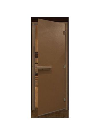 """Дверь для бани """"Бронза матовая"""" стекло, 70х190см короба осина"""
