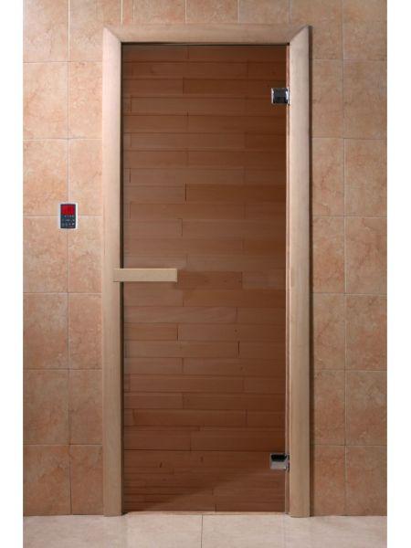 Дверь для бани стеклянная матовая