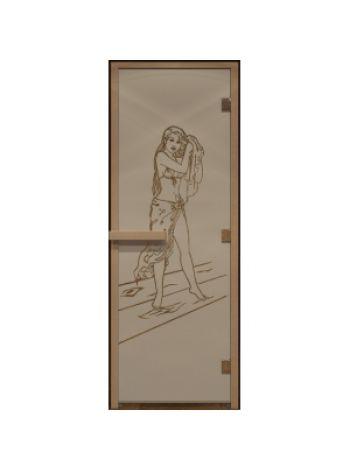 """Дверь для бани """"Дженифер"""" стекло бронза матовая 80х200см DW00090"""