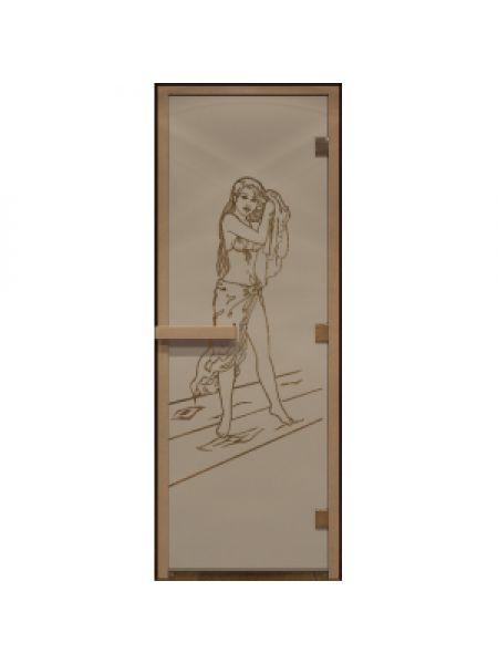 """Дверь для бани """"Дженифер"""" бронза матовая 70х190см"""