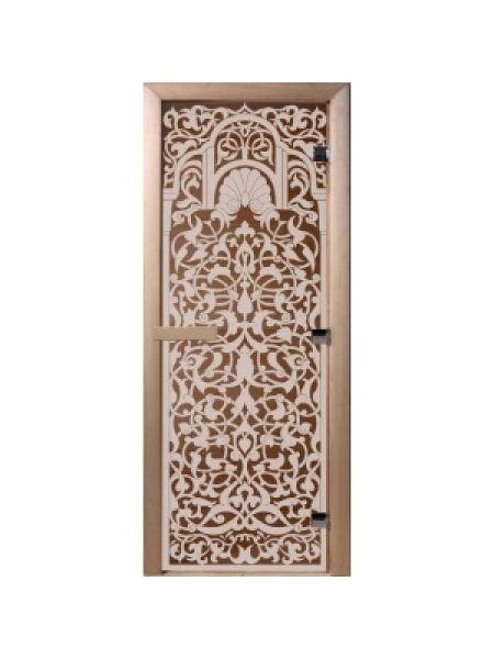 """Дверь для бани """"Флоренция"""" бронза матовая 70х190см"""