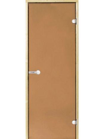 Дверь Harvia SТG 8х19 ольха/бронза D81901L