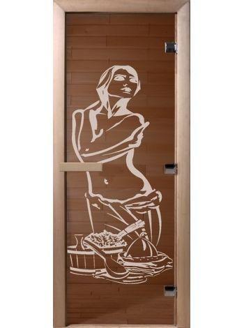 """Дверь для бани """"Искушение"""" стекло бронза прозрачная 70х190см DW00095"""
