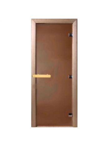 """Дверь для бани """"Бронза матовая """" 70х190см, коробка осина"""
