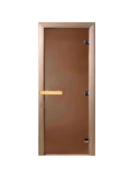 """Дверь для бани """"Теплый день"""" 70х190см, стекло бронза коробка хвоя  DW00001"""