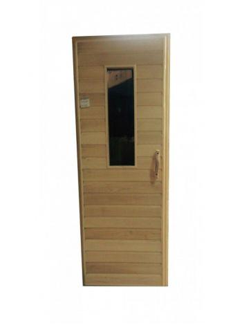 Дверь для бани осина малая со стеклом без петель 1750х720мм, 1800х700мм