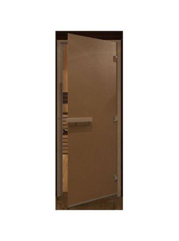 """Дверь  """"Теплая ночь"""" 70х190см, стекло бронза матовая коробка хвоя"""