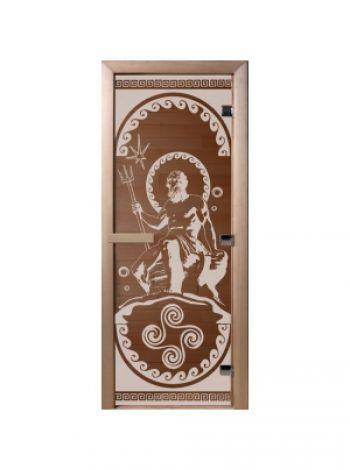 "Дверь ""Посейдон"" стекло бронза прозрачная 70x190см"