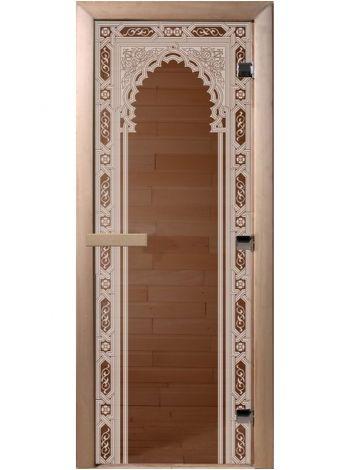 """Дверь """"Восточная арка"""" бронза прозрачная 70x190см"""