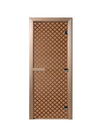 """Дверь для бани """"Мираж"""" бронза матовая 70х190см"""