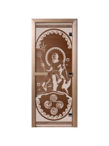 """Дверь для бани """"Посейдон"""" бронза матовая 70х190см"""