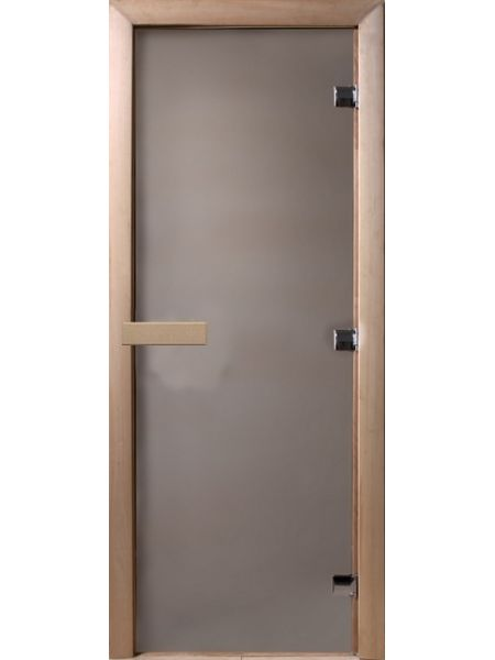 """Дверь для бани """"Теплое утро"""" 70х190см стекло сатиновое коробка хвоя  DW00003"""