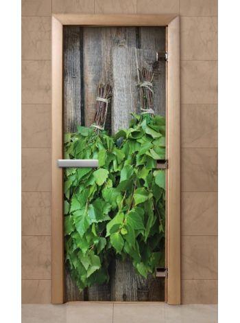 Дверь из стекла с фотопечатью 190*70 F202