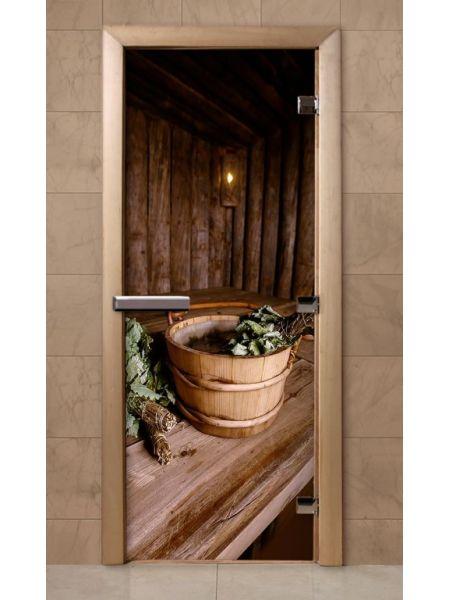 Дверь из стекла с фотопечатью 190*70 F208