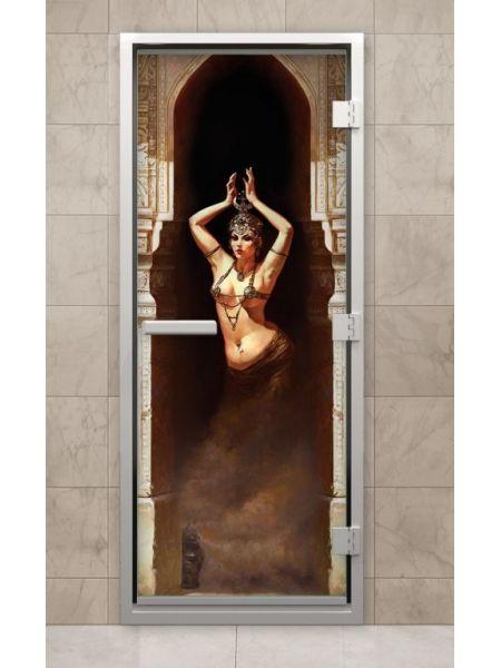 Дверь из стекла с фотопечатью F214