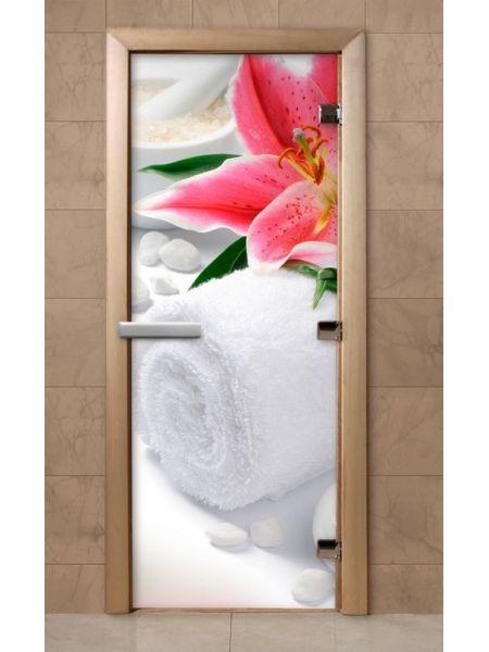 Дверь из стекла с фотопечатью 190*70 F216