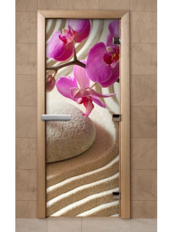 Дверь из стекла с фотопечатью 190*70 F218