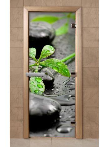 Дверь из стекла с фотопечатью 190*70 F219