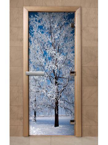 Дверь из стекла с фотопечатью 190*70 F232