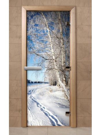Дверь из стекла с фотопечатью 190*70 F234